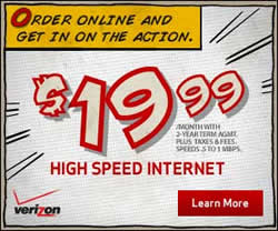 verizon fios just internet plans
